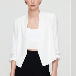 Aritzia White Power Blazer Size 6